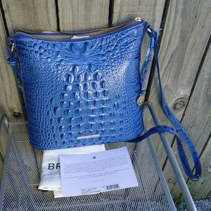 NWT Brahmin Iris Blue Leather Katie Crossbody